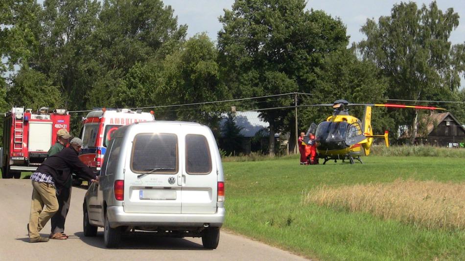 Interwencja lotniczego pogotowia ratunkowego